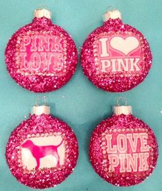 Victoria's Secret PINK ornament set. OMG♥♥♥ (:(:(:(: