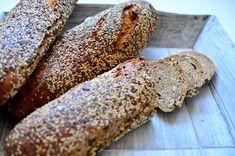 Nuselská kuchta uvádí ...: MULTISEED KVÁSKOVÉ BAGETY SE SOJOU Bread, Food, Meal, Brot, Eten, Breads, Meals, Bakeries