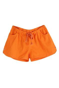 ROMWE | ROMWE Self-tied Elastic Sheer Orange Shorts, The Latest Street Fashion