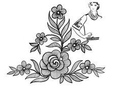 Mustrilaegas: B Tikkimine / haftowania Zardosi Embroidery, Hand Work Embroidery, Hand Embroidery Patterns, Ribbon Embroidery, Embroidery Art, Embroidery Designs, Button Hole Stitch, Hand Work Design, Hand Work Blouse