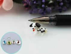 30pcs 15x11MM Spotted Dog For Jewelry Necklace Making,Wishing bottle findings,glass globe terrarium,drift bottle #Affiliate