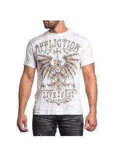 Men's T-Shirt Affliction Blackbird Raw Edge