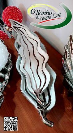"""Decoração Interior 2015 - Centro de mesa de cerâmica em formato de """"Folha"""""""