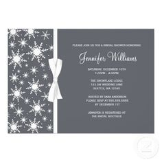 Winter wonderland bridal shower invitation custom die cut 200 winter bridal shower invitations filmwisefo