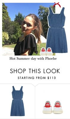 """""""Hot Summer day with Phoebe"""" by reasongirl ❤ liked on Polyvore featuring Madewell, adidas and New Look"""