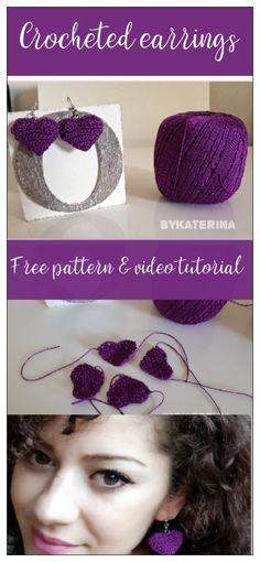 Crocheted Earrings free pattern