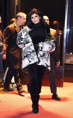 Kylie Jenner from The Big Picture The reality star is all smiles as she steps out wearing a black and white camo jacket in New York City.
