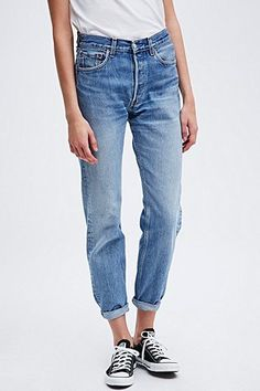 Urban Renewal Vintage Customised Levis 501 Jeans in Blue - Urban Outfitters XS