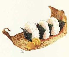 おむすびがいい。: イラストレーター大崎吉之の絵