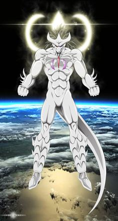 "A fusion of the divine beings Dragon and Alpha resulting in the aptly named ""Alpha-Dragon"". Character Design, Dbz Art, Art, Anime, Anime Dragon Ball Super, Dragon, Dark Fantasy Art, Anime Character Design"