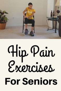 Exercises to Relieve Hip Pain - Reduce inflammation and relieve the discomfort of hip pain with these exercises for seniors. Hip Flexor Exercises, Hip Stretches, Chair Exercises, Stretching Exercises For Seniors, Hip Arthritis Exercises, Hip Strengthening Exercises, Balance Exercises, Insanity Workout, Hip Workout