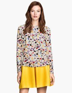 Multicolor floral blouse, H&M