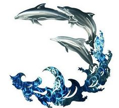 3D dolphin metal wall art
