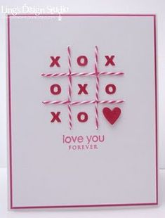 """Love You Forever """"X's and O's"""" card - cute Repin & Follow my pins for a FOLLOWBACK!"""