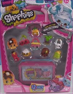 Sneak Peak at Season 4 12 pack. Shopkins Game, Shopkins Season 4, Shoppies Dolls, Shopkins Characters, My Little Pony Backpack, Moose Toys, Pack And Play, Cool Toys For Girls, Birthday Gifts For Boys