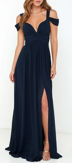 Ocean of Elegance Navy Blue Maxi Dress Navy Dresses, Blue Dresses Fashion Dresses 2019 Trendy Dresses, Elegant Dresses, Blue Dresses, Casual Dresses, Short Dresses, Fashion Dresses, Formal Dresses, Dress Long, Casual Outfits