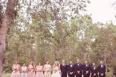 Madison   Shay: Champagne Rosette Wedding. Bridal Party, Romantic, Blush