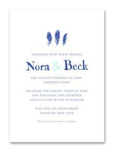 Feathers Wedding Invitation | Sycamore Street Press