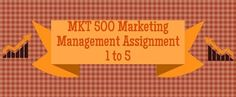 MKT 500 Marketing Management Assignment 1 to 5 MKT 500 Assignment 1, Company Introduction, Market Segmentation, and Product Positioning MKT 500 Assignment 2, Marketing Products MKT 500 Assignment 3, Branding, Pricing, and Distribution  MKT 500 Assignment 4, IMC and Customer Satisfaction MKT 500 Assignment 5, Marketing Strategies