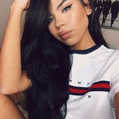 Dying over @valentinath5 in our Tommy crop tee 😻