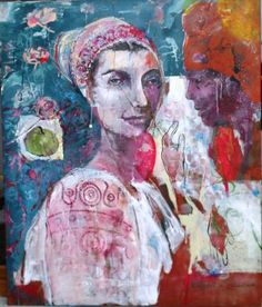 "Saatchi Art Artist RENATA KACOVA; Painting, ""No.251"" #art Saatchi Art, Original Paintings, Canvas, Artist, Tela, Artists, Canvases, Burlap"