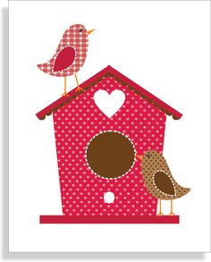 Birdhouse.  Pretties need to come live on a bird quilt in my house!!