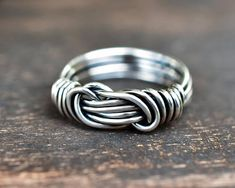 Promise Ring for Boyfriend Purity Ring Double Knot Ring