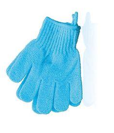 The Body Shop Exfoliating Bath Gloves-Bath Mitts-Shower Gloves-Body Scrub Gloves (Aqua / Bue)