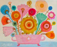 Mercedes Lagunas' paintings.