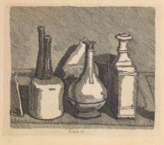 Giorgio Morandi, Natura morta, 1933, acquaforte su rame