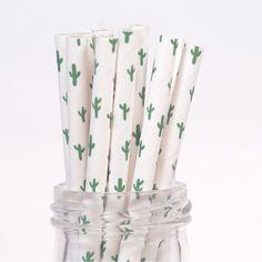 Cactus Straws could make for a fun reception detail for a Desert Botanical Garden wedding!