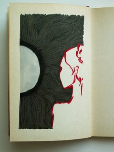 Poetry-book illustration I. My first attempt at what I call 'guerilla' illustration: buying an old, plain, second-hand poetry book and filling it up with original drawings. Poetry Books, Guerrilla, Book Illustration, Drawings, Art, Sketches, Art Background, Kunst, Draw