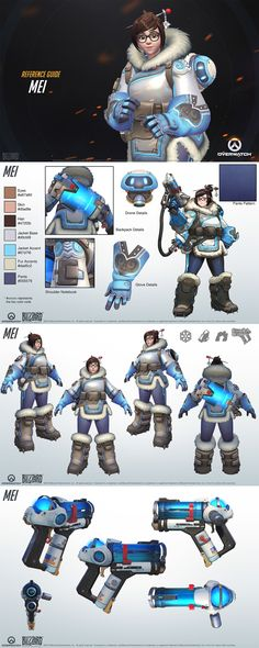 Mei of Overwatch - Blizzard's Reference Kit