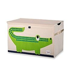 3 Sprouts Toy Chest in Crocodile