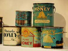 vintage honey tins