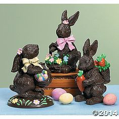 Chocolate bunny statues - cute.