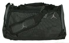 a80108c8484e Amazon.com  Nike Air Jordan Black and Gray Duffel Gym Bag Sports Tote  Shoes