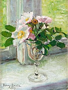 Still life with wild roses - Fanny Brate 1939 Swedish 1861 - 1940
