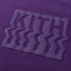 Kith Warp Tee - Purple