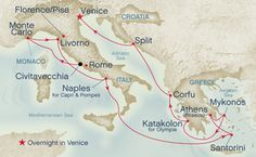 Greek Isles and Mediterranean Cruise.  One day I hope to go!