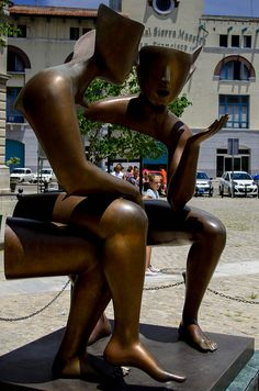 Cuba Sculptures: Perhaps Empty Conversation is more to the point | Flickr - Photo Sharing!