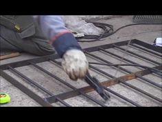 COMO HACER REJAS PARA VENTANAS ,SOLDADURA ,TUTORIAL UNICO Window grills easy welding - YouTube