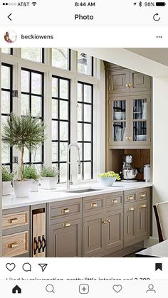 Muted colors with black windows