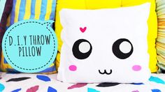 D.I.Y Throw pillow cover | NO SEW Pillow | Cute Home Decor | Make Your Own Pillow