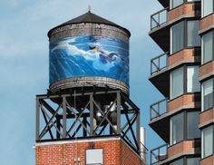 14 murals from the Water Tank Project