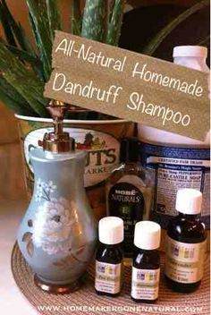 Homemade Natural Dandruff Shampoo.  I use this for my son's ECZEMA too!!! LOVE IT!