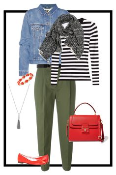olive and denim by tena-mason on Polyvore featuring Michael Kors, Acne Studios, 3.1 Phillip Lim, Dolce&Gabbana, Monet, Vince Camuto and Therapy