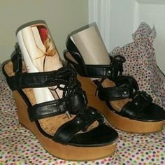 Flash Sale Today Only Final Price G by Guess fabulous black wedges. Excellent condition. FINAL PRICE G by Guess Shoes Wedges