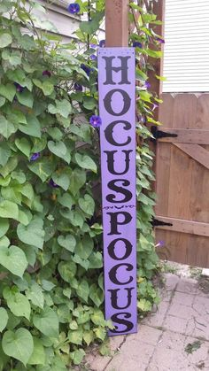 Hocus Pocus 5 Ft Porch Sign Reversible Vertical Distressed Wood Sign Extra Large Oversized Patio Halloween Decor Primitive Fall Decor Bats - New Ideas Halloween Wood Signs, Halloween Wood Crafts, Fall Crafts, Holiday Crafts, Halloween Decorations, Halloween Veranda, Halloween Porch, Holidays Halloween, Halloween Stuff