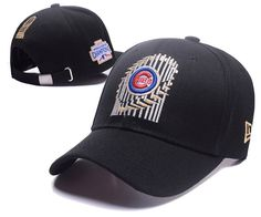 28e5fb707aa Men s   Women s Chicago Cubs New Era 2016 MLB World Series Trophy Baseball  Ajustable Dad Hat - Black